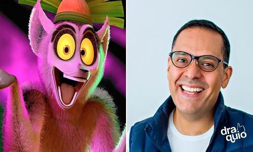 Mario Filio la voz de El Rey Julien en las películas de Madagascar